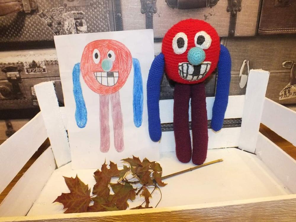 Žaislas pagal vaiko piešinį