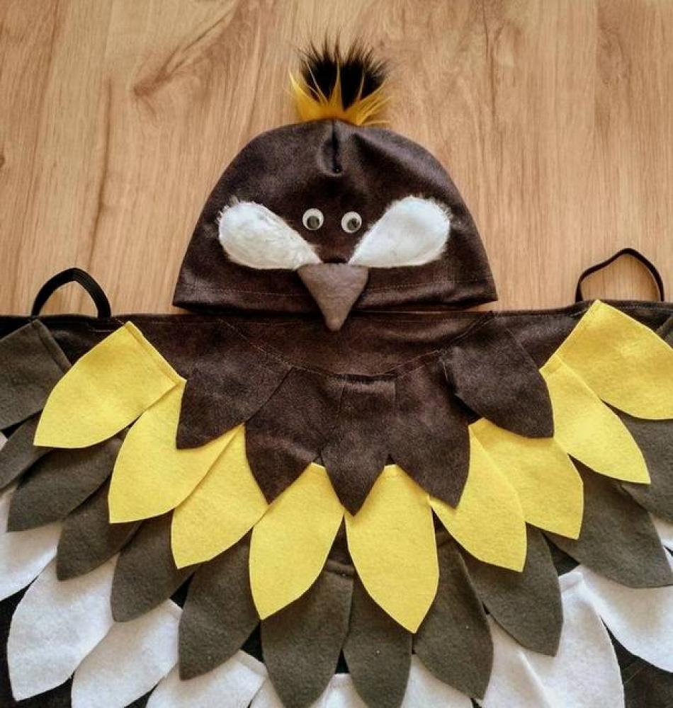 Zylės, zylutės, paukščiuko vaikiškas karnavalinis kostiumas