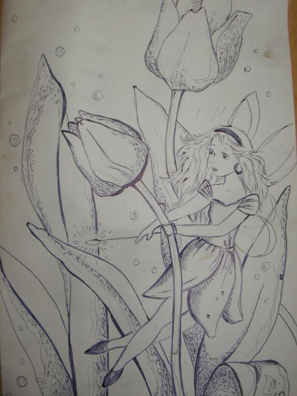 Fėja ir tulpės
