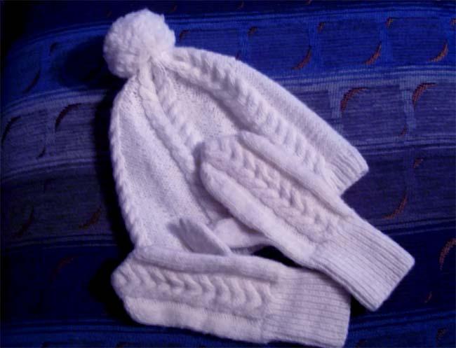 kepurė ir pirštinaitės