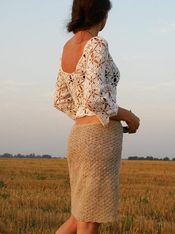 nerta - palaidinukė ir sijonas