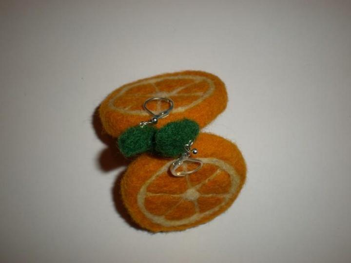 Auskarai - apelsinai