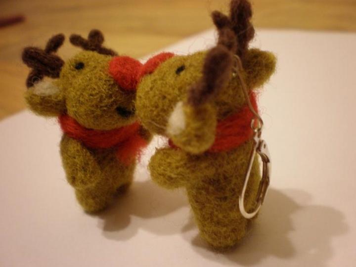 Kalėdiniai elniukai - auskarai