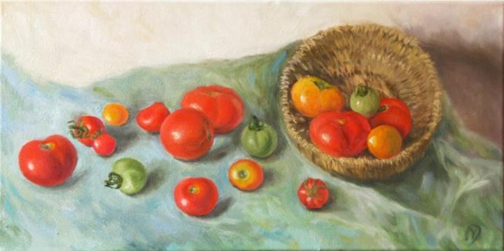 Pilna prinokusių pomidorų....