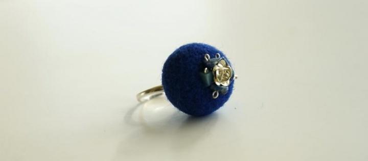 """Žiedas """"Mėlyna """""""