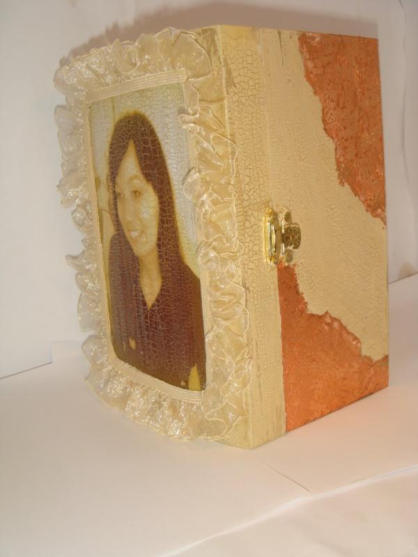 dėžutė papuošaliukams su nuotrauka