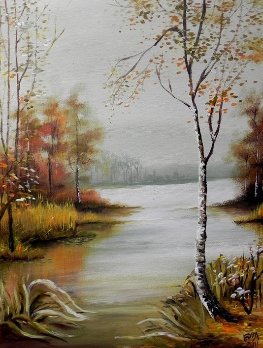 Gamta grimzta į rudenį