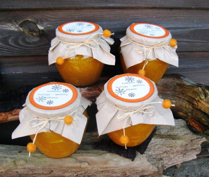 Kalėdinis moliūgų-apelsinų džemas