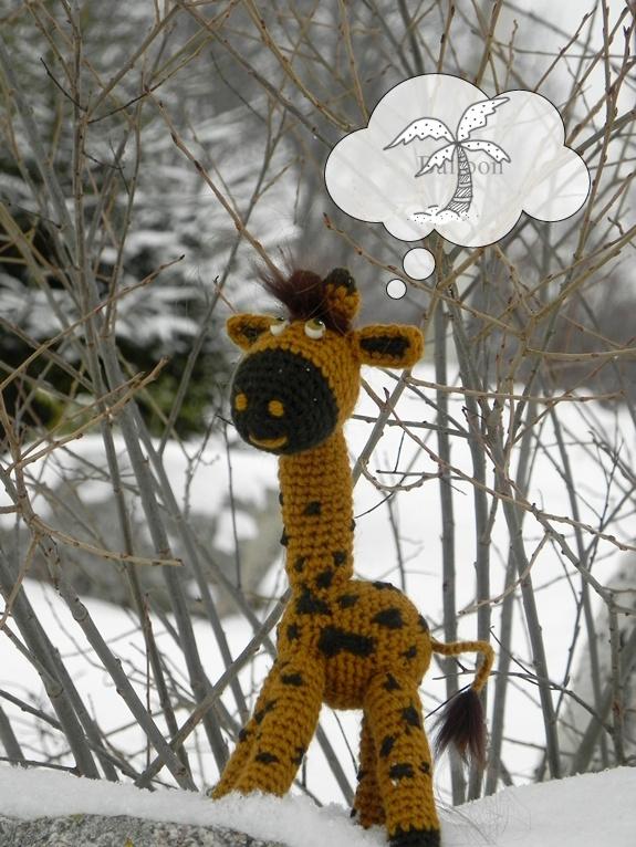 Paklydusi žirafa :)